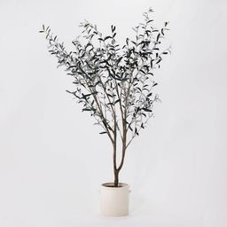 """76.5""""x 30"""" Artificial Olive Tree in Ceramic Pot - Threshold™ designed with Studio McGee 