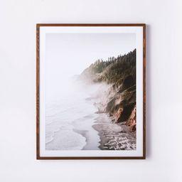 "30"" x 36"" Foggy Oceanside Trees Framed Wall Art - Threshold™ designed with Studio McGee | Target"