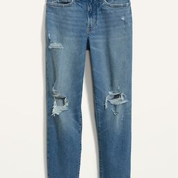 High-Waisted Curvy O.G. Straight Ripped Jeans for Women | Old Navy (US)