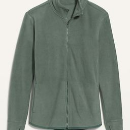 Mock-Neck Zipped Fleece Performance Cardigan for Women | Old Navy (US)