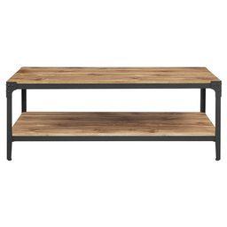 Urban Industrial Angle Iron Wood Coffee Table - Saracina Home | Target