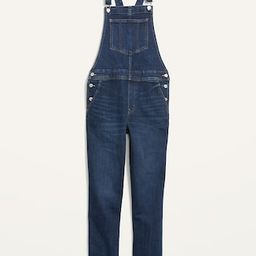 O.G. Straight Dark-Wash Jean Overalls for Women | Old Navy (US)