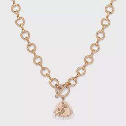 Layered Triangular Charm Pendant Necklace - Universal Thread™   Target
