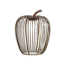 Beaded Wire Pumpkin Hurricane - Weathered Metal   Pottery Barn (US)