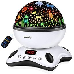 Amazon.com: Moredig Night Light Projector Remote Control and Timer Design Projection lamp, Built-... | Amazon (US)