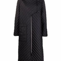 quilted recycled-polyester parka coat | Farfetch (UK)