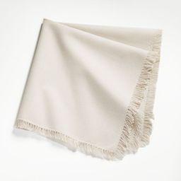Craft Birch Cotton Fringe Napkin + Reviews | Crate and Barrel | Crate & Barrel