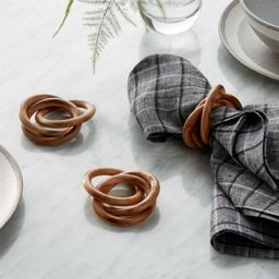 3-Ring Wood Napkin Ring + Reviews | Crate and Barrel | Crate & Barrel