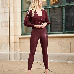 Super High Waisted Faux Leather Leggings | Express