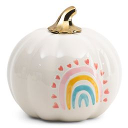 7.5in Pumpkin With Rainbow | TJ Maxx