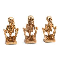 Set Of 3 No Evil Skeletons | TJ Maxx