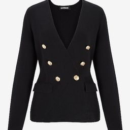 Double Breasted Sweater Jacket | Express