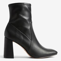 Block Heel Sock Booties | Express