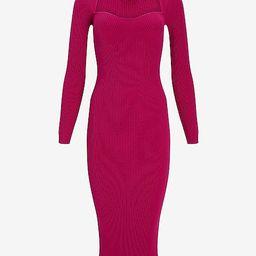 Sweetheart Neckline Midi Sweater Dress | Express