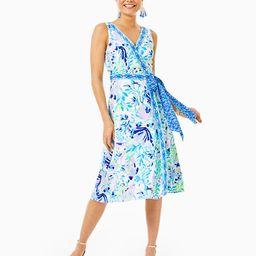 Shaylee Stretch Midi Wrap Dress | Lilly Pulitzer