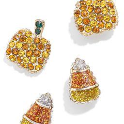 Set of 2 Pumpkin & Candy Corn Stud Earrings | Nordstrom