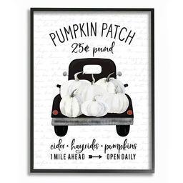 Stupell Home Decor Pumpkin Patch Farm Truck Sign Country Autumn Harvest Wall Art   Kohl's