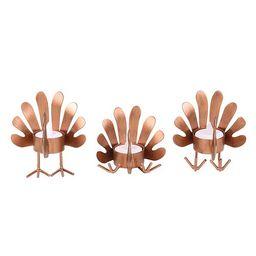 Celebrate Fall Together Turkey LED Candleholder Table Decor 3-piece Set   Kohl's