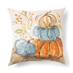 Celebrate Fall Together Harvest Tapestry Stacked Pumpkin Throw Pillow   Kohl's