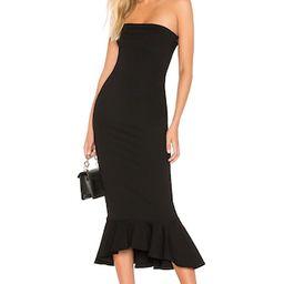 superdown Izzy Ruffle Maxi Dress in Black from Revolve.com   Revolve Clothing (Global)