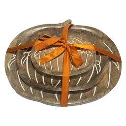 Celebrate Fall Together Nesting Pumpkin Decorative Bowl Table Decor 3-piece Set   Kohl's