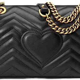 DFGD Crossbody Purse for Women Lamb Pattern PU Texture Ladies Shoulder Bag Gold Chain Clutch Clas... | Amazon (US)