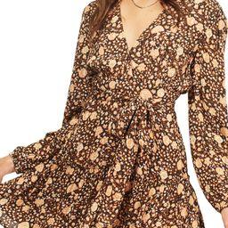 Golden Glow Floral Long Sleeve Dress | Nordstrom