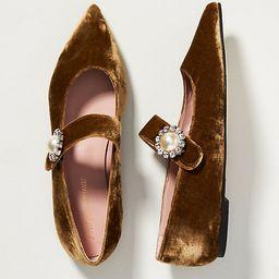 Pretty Ballerinas Ella Velvet Mary Jane Flats   Anthropologie (US)