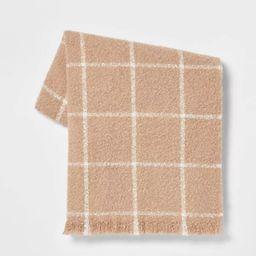 Boucle Windowpane Plaid Throw Blanket - Threshold™ | Target