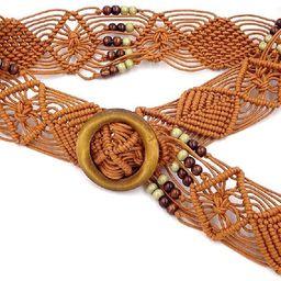 Cinlan Women's Bohemian Style Rope Braid Waist Belt | Amazon (US)