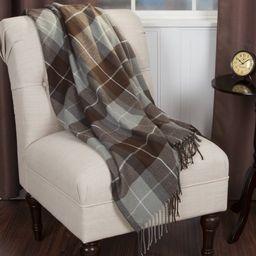 Somerset Home Cashmere-Like Blanket Throw - Brown | Walmart (US)