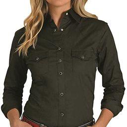 Wrangler Women's Western Yoke Two Pocket Snap Shirt | Amazon (US)