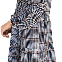 FOWSMON Women's Tunic Dress Cute Printed V Neck Long Sleeve Casual Swing Ruffle Dress | Amazon (US)