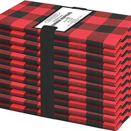 Cotton Clinic 20x20 Gingham Buffalo Check Cloth Dinner Napkins Pack of 12, 100% Cotton Cocktail N... | Amazon (US)