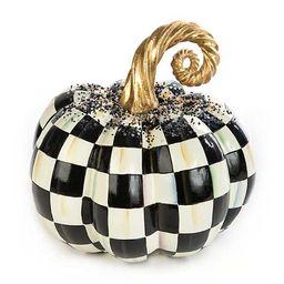 Beaded Check Pumpkin - Medium | MacKenzie-Childs