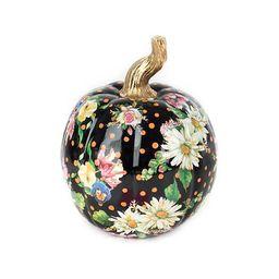 Flower Market Pumpkin - Small - Black | MacKenzie-Childs