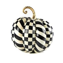 Courtly Check Gold Medal Pumpkin | MacKenzie-Childs