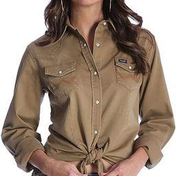 Wrangler Women's Long Sleeve Western Snap Work Shirt | Amazon (US)