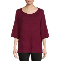 Time and Tru Women's Boatneck Sweater - Walmart.com | Walmart (US)
