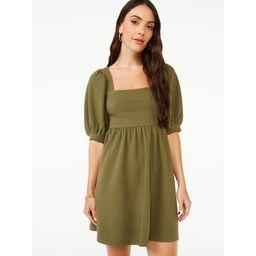 Scoop Women's Square Neck Babydoll Dress   Walmart (US)