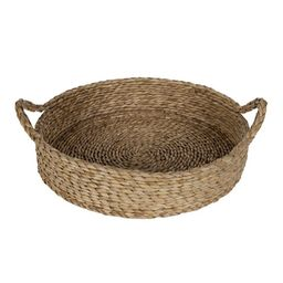 """Better Homes & Gardens 16"""" Round Natural Colored Water Hyacinth Woven Tray 
