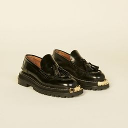 Thick-soled leather loafers   Sandro Paris (US)