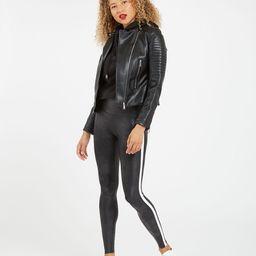 Faux Leather Side Stripe Leggings   Spanx