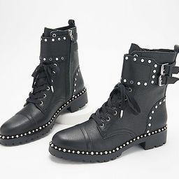 Sam Edelman Leather Studded Lace-Up Ankle Boots - ` Jennifer   QVC