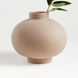 Full Moon Clay Vase + Reviews | Crate and Barrel | Crate & Barrel