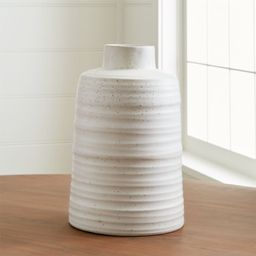Holden White Ribbed Vase + Reviews | Crate and Barrel | Crate & Barrel