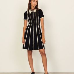 Two-tone knit dress   Sandro Paris (US)