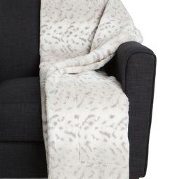 Snow Leopard Faux Fur Throw   Bed & Bath   Marshalls   Marshalls