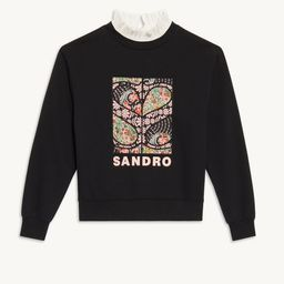 Patchwork sweatshirt   Sandro Paris (US)