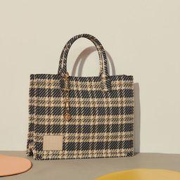 Checked tweed tote bag   Sandro Paris (US)